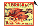 C.T. Brock and Co.'s Crystal Palace Fireworks Advertisement Prints