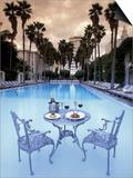 Delano Hotel Pool, South Beach, Miami, Florida, USA Kunstdrucke von Robin Hill