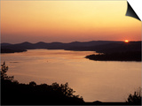 Sunset over Table Rock Lake near Kimberling City, Missouri, USA Prints by Gayle Harper