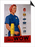 She's a Wow Poster Prints by Adolph Treidler