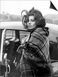Italian Actress Sophia Loren Arriving at Crumlin Where She Filmed Scenes For the Film 'Arabesque' Posters