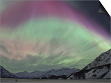 Aurora Borealis, Wrangell Mountains, Alaska, USA Posters by Hugh Rose
