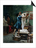 Pygmalion and Galatea Posters by Jean-Leon Gerome