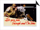 Let's Give Him Enough and on Time Poster Posters by Norman Rockwell