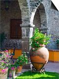 Courtyard of A Villa in San Miguel, San Miguel De Allende, Guanajuato State, Mexico Plakater af Julie Eggers