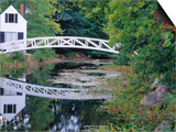 Bridge Over Pond in Somesville, Maine, USA Prints by Julie Eggers