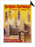 Belgian Railways - Belgian Cities of Art Poster Prints by S. Rader