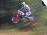 Motocross Racer Airborne Prints by Steve Satushek