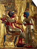 Gold Throne Depicting Tutankhamun and Wife, Egypt Poster by Kenneth Garrett