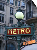 Metro Signage in Paris, France Art by Bill Bachmann