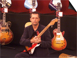 Eric Clapton Guitar Legend at the Launch of the Auction of His Guitars, June 1999 Prints
