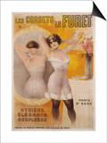 Les Corsets Le Furet Poster Posters by Gaston Noury