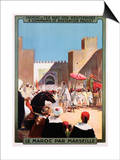 Le Maroc Par Marseille Poster Prints by Maurice Romberg