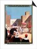 Le Maroc Par Marseille Poster Prints by Maurice Romberg