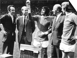 George Best Receives the European Footballer of the Year 1969 Award from Max Urbini Posters