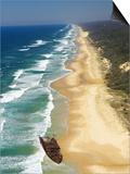 Wreck of the Maheno, Seventy Five Mile Beach, Fraser Island, Queensland, Australia Prints by David Wall