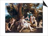 Leda and the Swan Print by  Correggio