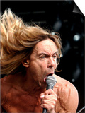 Iggy Pop on Stage at Glasgow Green, June 2004 Prints