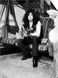 Jimmy Page Lead Guitarist with Led Zeppelin Then Aged 24 at His Home in Pangbourne Berkshire Plakater
