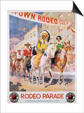 Rodeo Parade Northern Pacific Railroad Poster Posters by Edward Brener