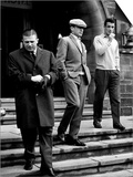 Real Madrid Legends Ference Puskas and Alfredo Di Stefano Leave Their Hotel in Glasgow Posters