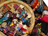 Finger Dolls, Traditional Textiles, Textile Museum, Casa del Tejido, Antigua, Guatemala Plakat af Cindy Miller Hopkins