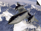 Nasa Sr-71 Research Aircraft in Flight Posters