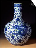 A Magnificent Blue and White Massive 'Dragon' Bottle Vase Prints