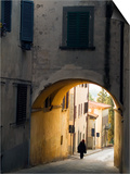 Person and Archway, Panzano, Chianti Region, Tuscany, Italy Posters by Janis Miglavs