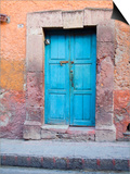 Old Blue Door, San Miguel, Guanajuato State, Mexico Posters af Julie Eggers