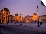 Le Louvre Museum and Glass Pyramids, Paris, France Posters by David Barnes