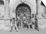 Rolling Stones Stand Outside the Gate of the Alamo While on Tour in the USA Print