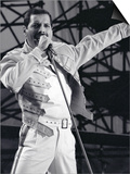 Freddie Mercury from Queen in Concert at St, James Park in Newcastle, July 1986 Prints