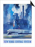 New York Central System Poster Prints by Leslie Ragan