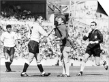 Dave Mackay Grabs Billy Bremner of Leeds by His Shirt in Match Against Tottenham Poster