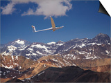 Glider Pilot Racing in Fai World Sailplane Grand Prix, Andes Mountains, Chile Posters by David Wall