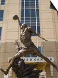Michael Jordan statue at the United Center, Chicago, Illinois, USA Prints by Alan Klehr