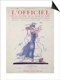 L'Officiel, July 1924 - Robe d'Après-Midi Très Fleurie Posters by Jeanne Lanvin
