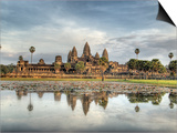 Panoramic View of Temple Ruins, Angkor Wat, Cambodia Prints by  Jones-Shimlock