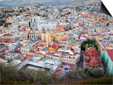 Historic City Center with Church of San Diego, Basilic and University, Guanajuato, Mexico Prints by Julie Eggers