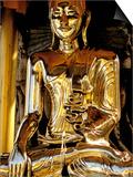Golden Buda of Shwedagon Pagoda, Yangon, Myanmar Posters by Inger Hogstrom