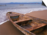 Wooden Boat Looking Out on Banderas Bay, The Colonial Heartland, Puerto Vallarta, Mexico Posters by Tom Haseltine