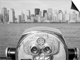 Coin Operated Binoculars Pointed at Manhattan Skyline, Hudson River, Jersey City, New Jersey, Usa Posters by Paul Souders
