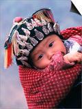 Miao Baby Wearing Traditional Hat, China Láminas por Keren Su