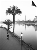 View of the Nile River, Cairo, Egypt Print by Walter Bibikow