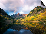 Maroon Lake, View of Autumn Aspens, White River National Forest, Colorado, USA Posters by Stuart Westmorland