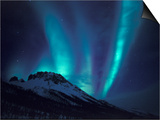 Aurora Borealis Above the Brooks Range, Gates of the Arctic National Park, Alaska, USA Kunstdrucke von Hugh Rose