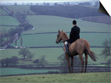 Man on horse, Leicestershire, England Prints by Alan Klehr
