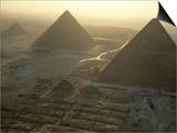 Pyramids at Giza, Giza Plateau, Egypt Posters af Kenneth Garrett
