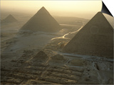 Pyramids at Giza, Giza Plateau, Egypt Posters by Kenneth Garrett